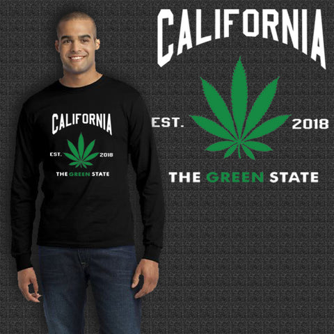California The Green State EST. 2018 T-Shirt