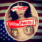 "3.5"" Custom Pasties Printed on Cotton."