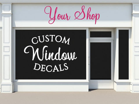 Custom Window Graphics and Logos