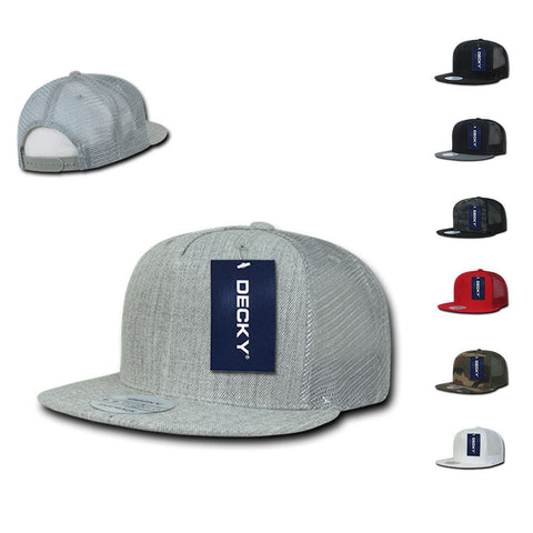 Two Tone Denim 5-Panel Hat with Imprint