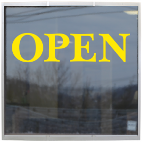 Storefront Window Lettering Open Sign - 1 color