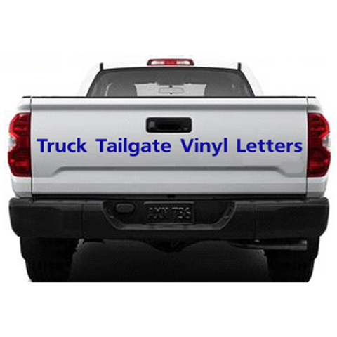 "Truck Tailgate Lettering (4"" X 48"")"