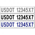 USDOT Number Stickers