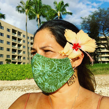 Load image into Gallery viewer, Mask :: Green and Turquoise Aloha