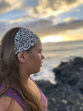 Load image into Gallery viewer, Gray and White Tattoo-Headwrap-KaheleMaui