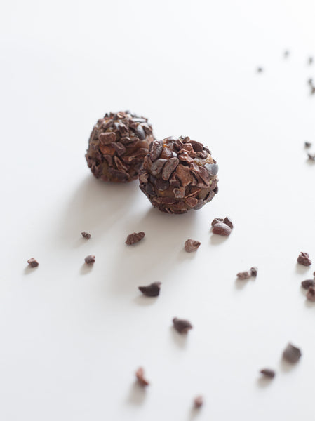 Cacao Nibs Date Balls