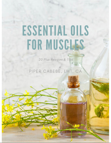 Essential Oils for Muscles Recipe e-Book - Muscles to Moods Essential Oils & Aromatherapy