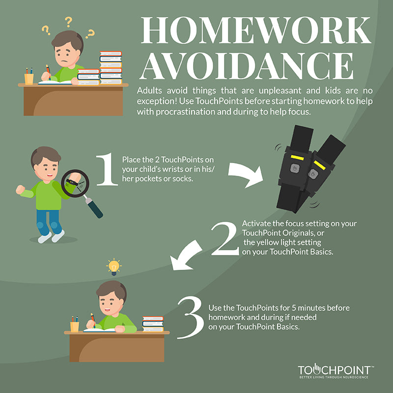 Homework avoidance (kids)
