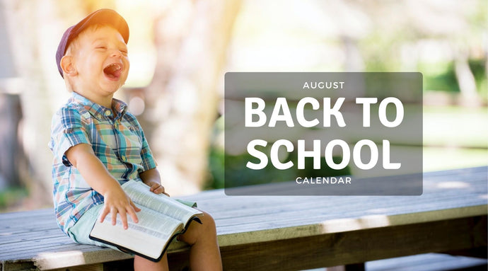 August Back to School Calendar
