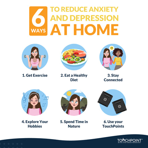 Ways to reduce anxiety and depression at home