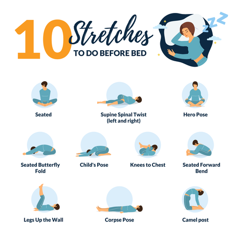 10 Stretched to do Before Bed