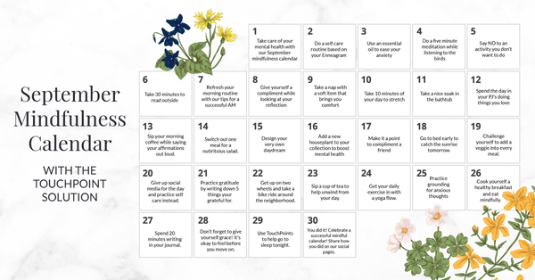 September Monthly Mindfulness Calendar