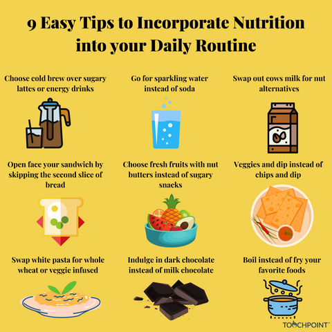9 Easy Tips to Incorporate Nutrition into Your Daily Routine