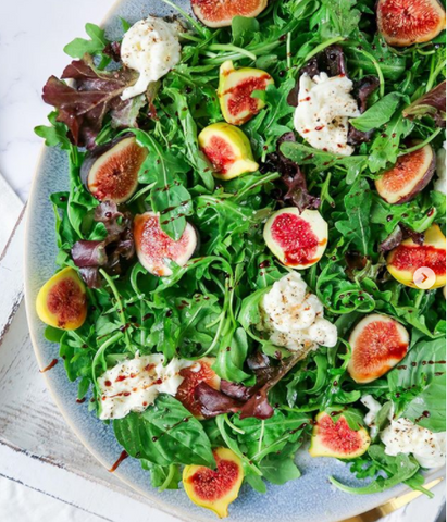 Sweet figs with burrata nutritional salad recipe