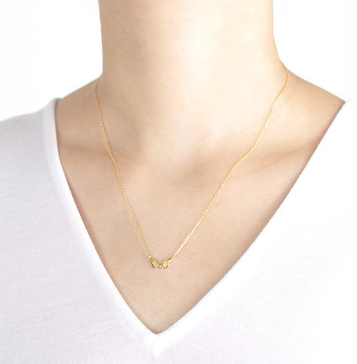 Gold-Plated Angel Wings Necklace - StyleBun