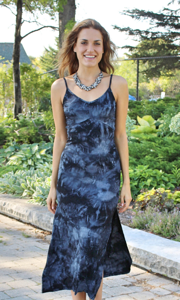 Blue Velvet Slip Dress - StyleBun