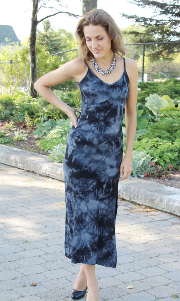 Blue Velvet Slip Dress
