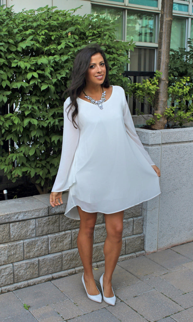Feminine Chic Chiffon Dress