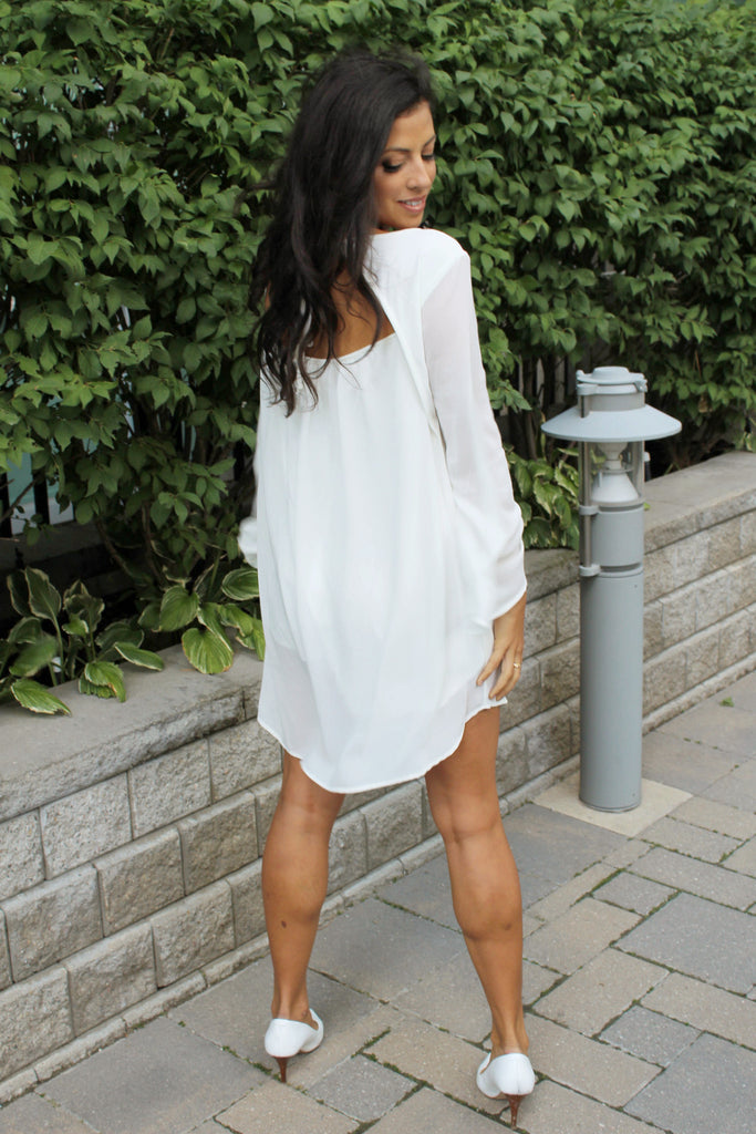 Feminine Chic Chiffon Dress - StyleBun