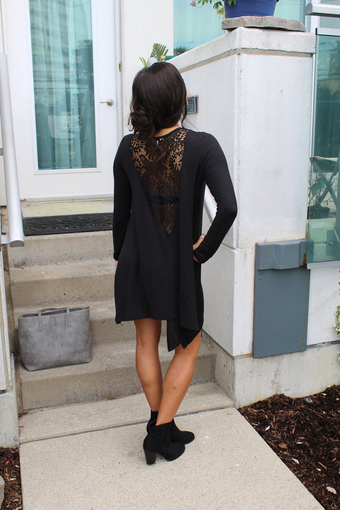 Flowy Back Lace Dress - StyleBun