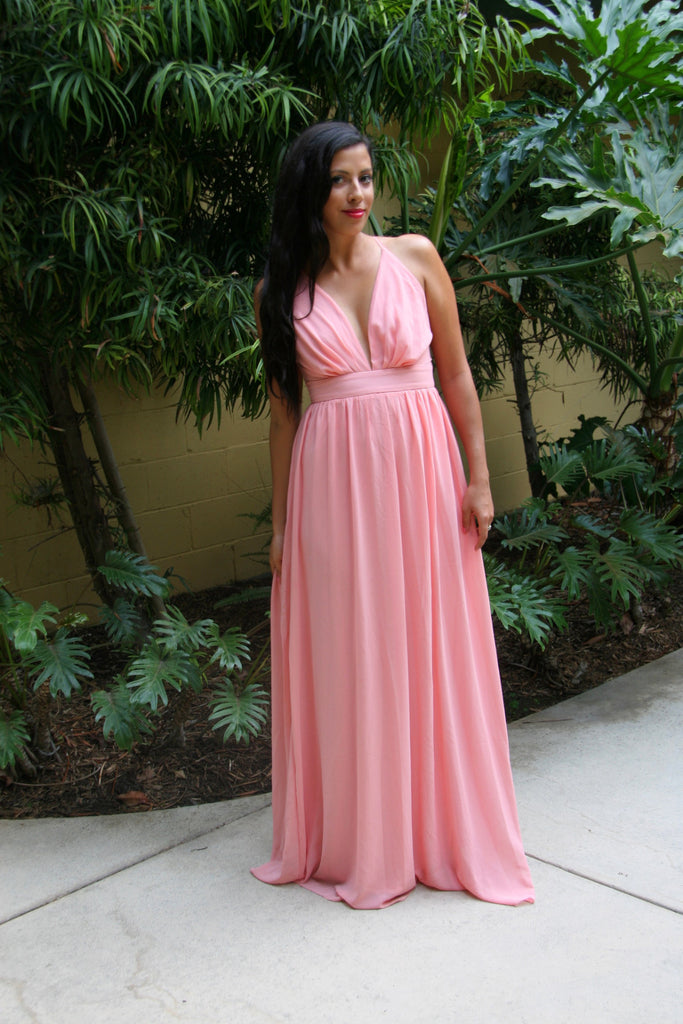 Long Chiffon Maxi Dress - StyleBun