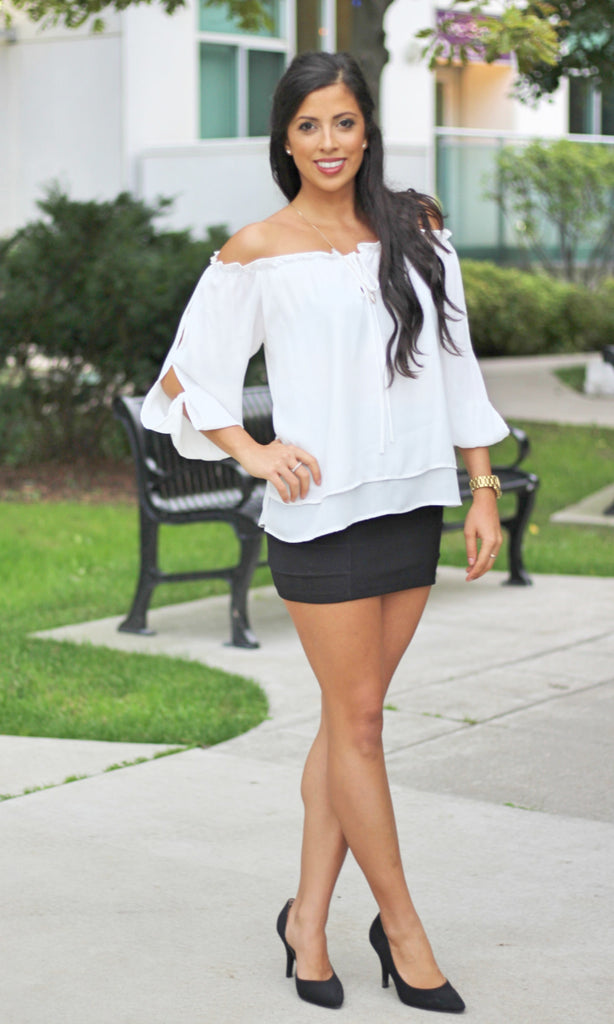 Chiffon Off Shoulder Blouse
