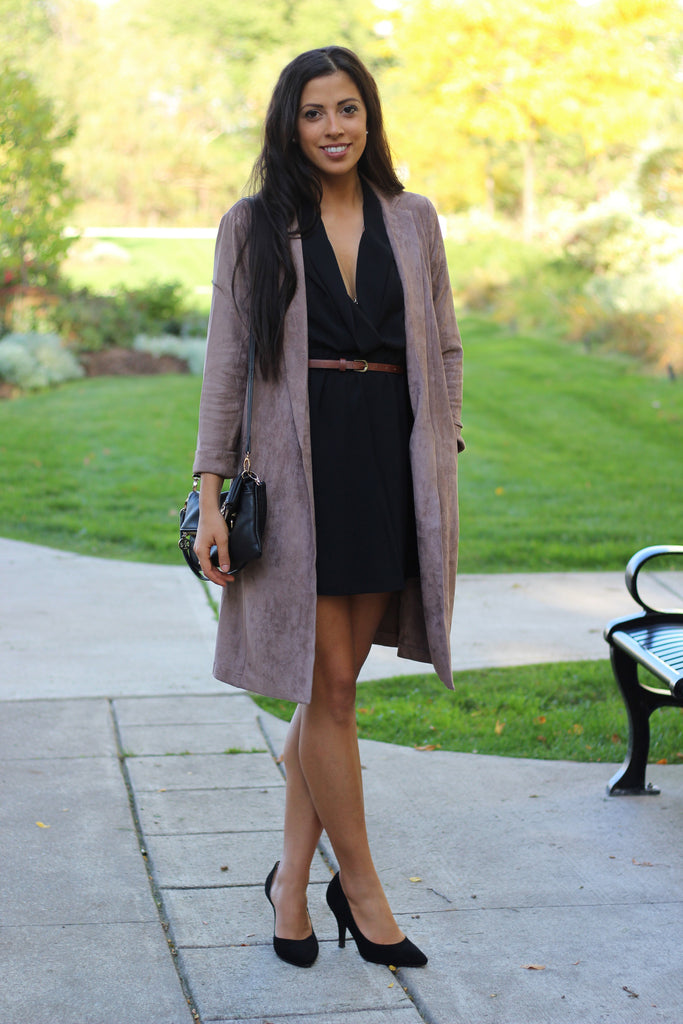 Crepe Long Sleeve Dress - StyleBun