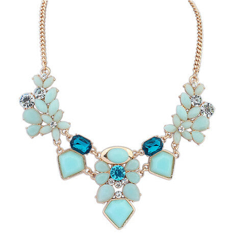 Spring Floral Statement Necklace