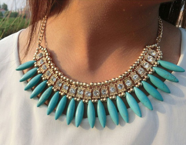 Turquoise Statement Necklace - StyleBun