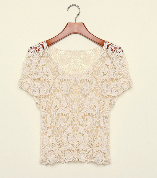 Crochet Sweetheart Blouse - StyleBun