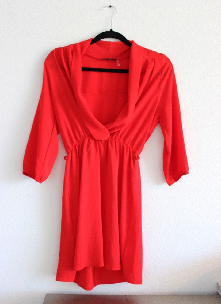 Crepe Long Sleeve Dress