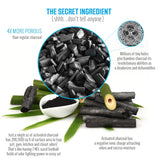 5 Pack - Bamboo Activated Charcoal Air Freshener and Purifier Bag - 100% Natural & Chemical Free