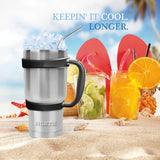 30 oz Stainless Steel Tumbler With Handle, Straw & Lid - Complete Set