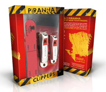 Sensible Needs Piranha Nail Clippers Set with Nail Buffer, 2 Piece