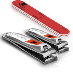 *OUT OF STOCK* Sensible Needs Piranha Nail Clippers Set with Nail Buffer, 2 Piece