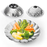 2-Pack Vegetable Steamer Basket Set with Safety Tool - Large and Standard size