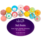 14 Bath Bombs by HanZá Gift Set USA Handmade Lush Fizzies, Shea & Cocoa Butter