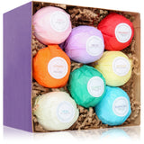 8 Hand-Made, Luxurious Bath Bombs by HanZá Gift Set - Made in USA