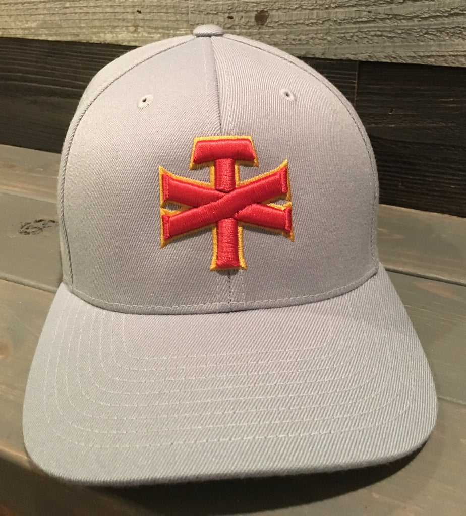 Grey TX Red Gap Hat