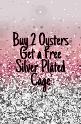 Buy 2 oysters, get a FREE silver plated cage