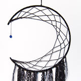 Black Crescent Moon Dreamcatcher