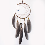 Brown Crescent Moon Dreamcatcher