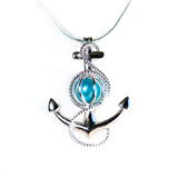 Sterling Silver Large Anchor Cage Pendant
