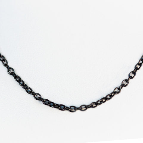 Black Plated Stainless Steel Chain