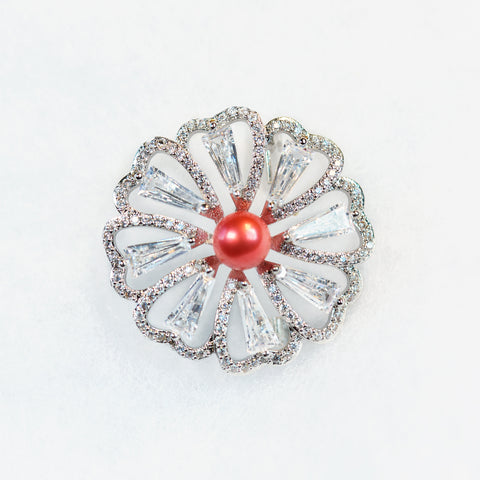 Silver Plated Bloom Brooch