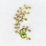 Gold Plated Cherry Blossom Brooch