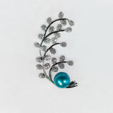 Silver Plated Cherry Blossom Brooch