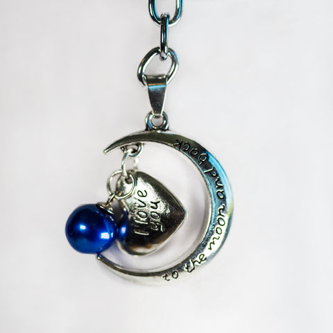 Moon and Back Keychain