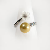 Sterling Silver Simple Blossom Ring