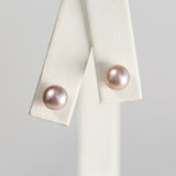 Pink Petite Simple Pearl Earrings